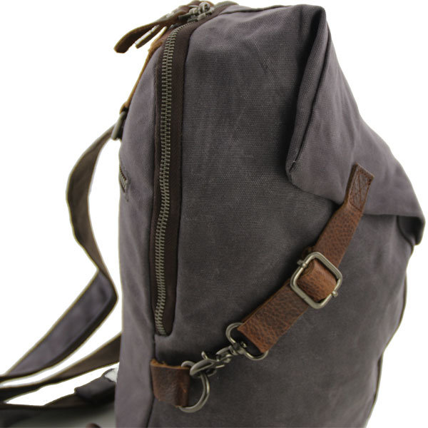 Canvas crossbody tas Austin grijs